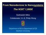 From Nanodevices to Nanosystems The N3XT 1,000X