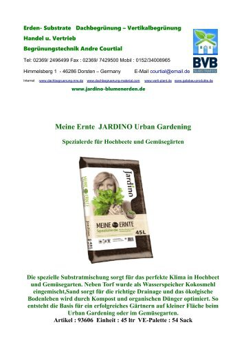 Meine Ernte Spezialerde und Dünger für Hochbeete und Gemuesegarten Jardino Florasan