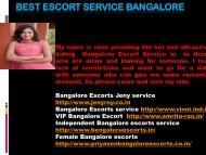 Affordable Escorts Service in Bangalore whenever any place
