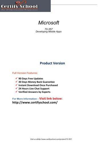 70-357 Real PDF Exam Material