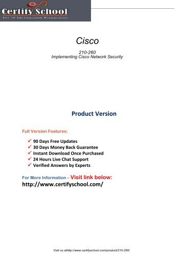 210-260 Real PDF Exam Material