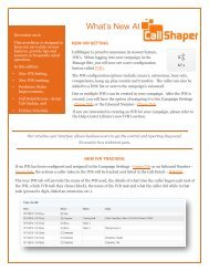 CallShaper Outbound Software Feature Update November 2016
