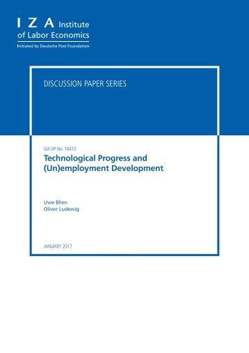 Discussion Paper Series Technological Progress and (Un)employment Development