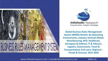 Global Business Rules Management System Market – Trends & Forecast, 2015-2020