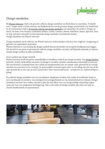 design meubelen van plaisierinterieur