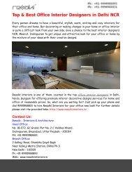 Top & Best Office Interior Designers in Delhi NCR