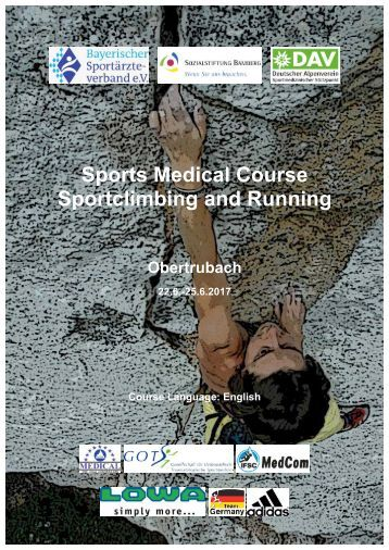 Sports Medical Course Sportclimbing and Running