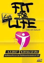 Fit for Life Broschüre 2017