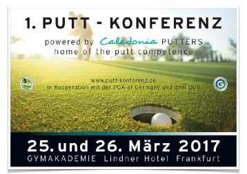 1 Putt-Konferenz powered by Caledonia Putters