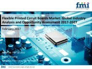 Flexible Printed Circuit Boards Market Revenue, Opportunity, Segment and Key Trends 2017-2027