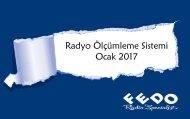 Radyo Ölçümleme Sistemi Ocak 2017