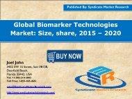 Biomarker Technologies Market