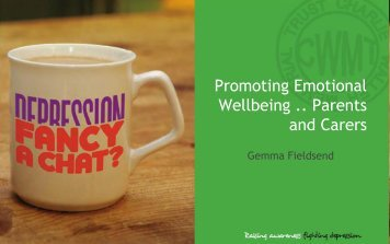 Promoting Emotional Wellbeing . Parents and Carers