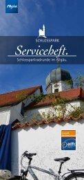 Serviceheft Schlossparkradrunde im Allgäu