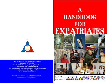 a handbook for expatriates dole-peza technical working group ...