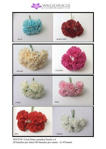 Page 9 WFCF30 Foam Carnation