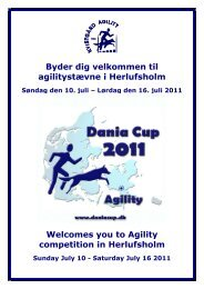 kort over campingområdet - Dania Cup 2011