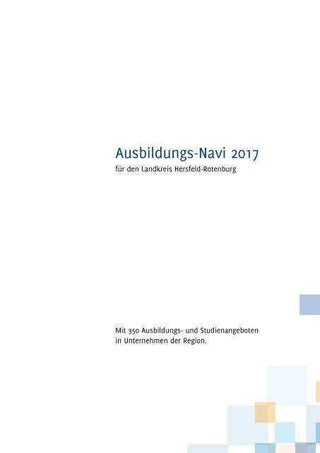 Ausbildungs-Navi 2017 für HEF-ROF Anzeigenteil