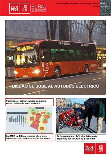 BILBAO SE SUBE AL AUTOBÚS ELÉCTRICO