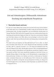 1 Marienthal damals und heute - Deutsche Gesellschaft für Zeitpolitik