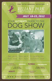 breed judging 2012 - The Reliant Park World Series of Dog Shows