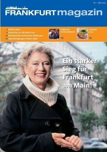 Ein starker Sieg für Frankfurt am Main! Ein starker Sieg ... - Weiteren