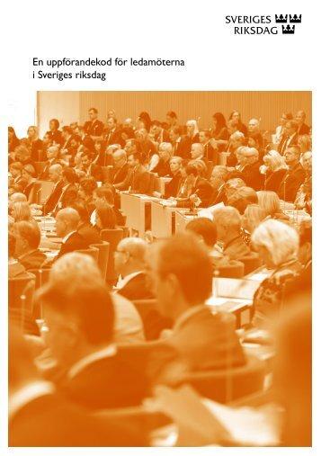 En uppförandekod för ledamöterna i Sveriges riksdag