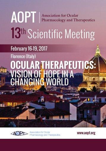 13th AOPT Scientific Meeting - Program