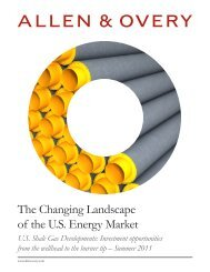The Changing Landscape of the U.S. Energy Market - Allen & Overy
