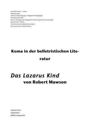 ratur Das Lazarus Kind von Robert Mawson - Basale Stimulation