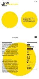 DER PROGRAMM-FLYER (pdf) - Berlin Art Week