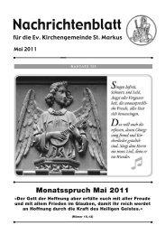 Monatsspruch Mai 2011 - Evangelische Kirchengemeinde St. Markus