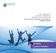 Lazarus-Schulen 20 Jahre