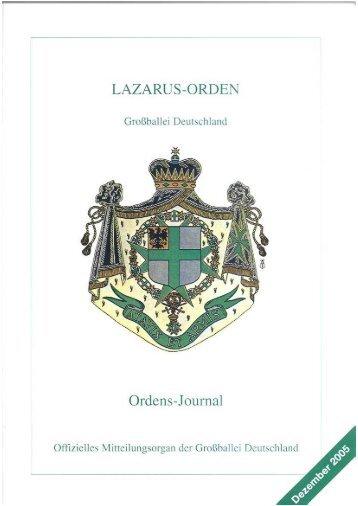 Dezember 2005 - Lazarus Orden in Deutschland