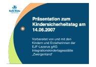 Kindersicherheitstag 2007 - Mehr Sicherheit für Kinder