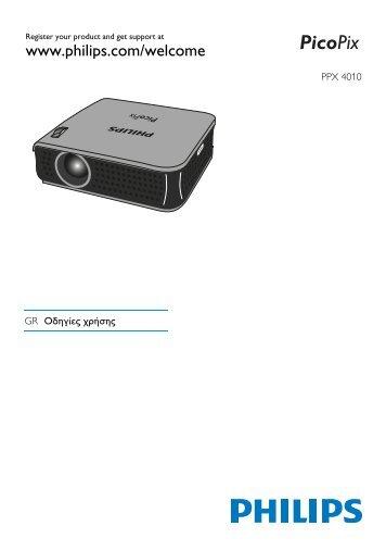 Philips PicoPix Projecteur de poche - Mode d'emploi - ELL