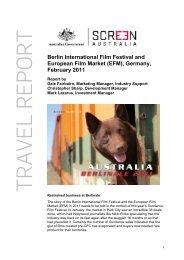 Berlin International Film Festival and European ... - Screen Australia