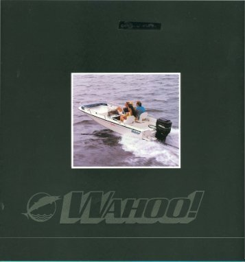 brochure for all 1994 models and - My Wahoo!