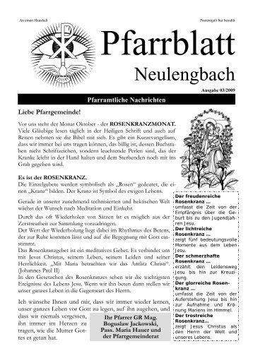 Pfarramtliche Nachrichten Liebe Pfarrgemeinde! - Pfarre Neulengbach