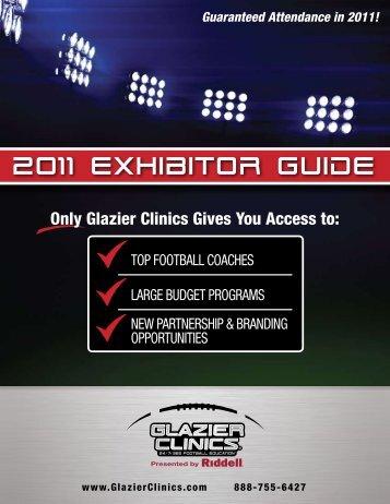 2011 Exhibitor guide - Glazier Clinics