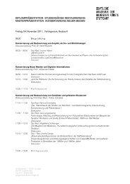 Programm - Konservierung Neuer Medien und Digitaler Information