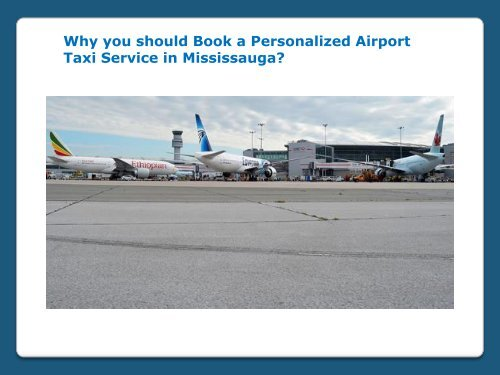 Airport Taxi Service in Mississauga