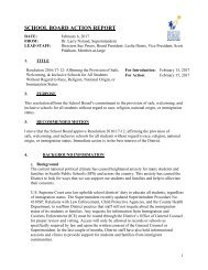 SCHOOL BOARD ACTION REPORT