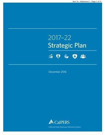 2017–22 Strategic Plan