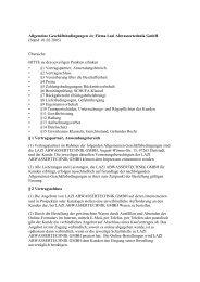 Allgemeine Geschäftsbedingungen der Firma Lazi Abwassertechnik ...