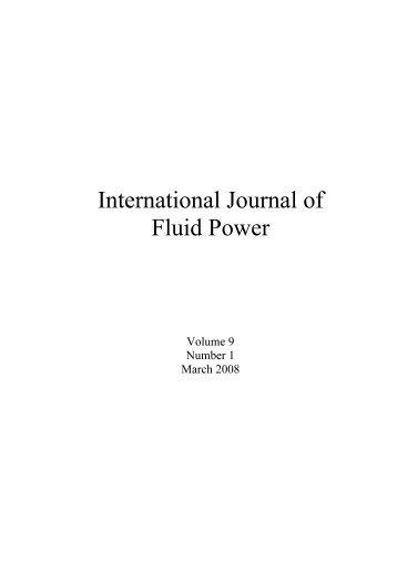 (PDF) Volume 9 - Number 1 - International Journal of Fluid Power