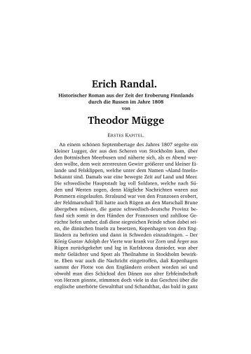 Erich Randal. Theodor Mügge