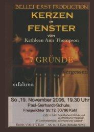 KERZEN FENSTER - Paul-Gerhardt-Schule Kahl