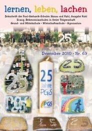 Schulzeitung Nr. 69 - Paul-Gerhardt-Schule Kahl