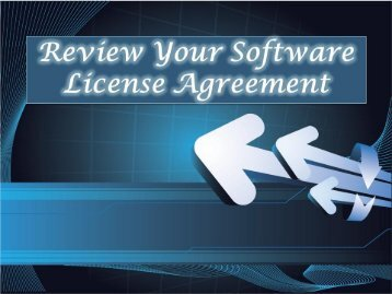 Review Your Software License Agreement